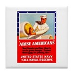 Navy Arise Americans Tile Coaster
