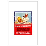 Navy Arise Americans Large Poster