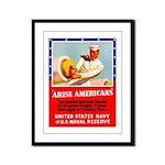 Navy Arise Americans Framed Panel Print
