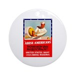 Navy Arise Americans Ornament (Round)