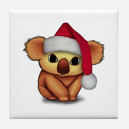 Christmas Koala Tile Coaster