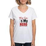 Lung Cancer Hero (Son) Women's V-Neck T-Shirt
