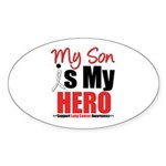 Lung Cancer Hero (Son) Oval Sticker (10 pk)