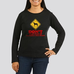 Plott Hound Women's Long Sleeve Dark T-Shirt