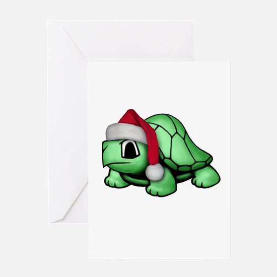 Christmas Turtle Greeting Card