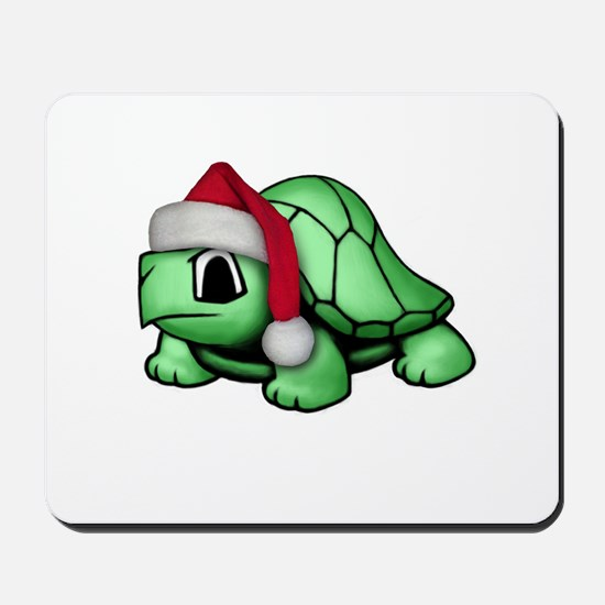 Christmas Turtle Mousepad