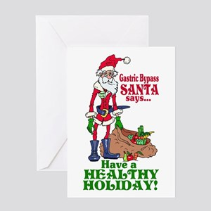 Weight loss greeting cards cafepress gastric bypass santa greeting card m4hsunfo