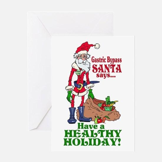 Gastric Bypass Santa Greeting Card