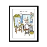 What the Duck: Self Portrait Framed Panel Print