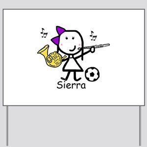 Soccer & Music - Sierra Yard Sign