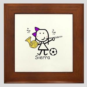 Soccer & Music - Sierra Framed Tile