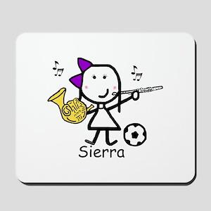 Soccer & Music - Sierra Mousepad
