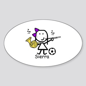 Soccer & Music - Sierra Oval Sticker