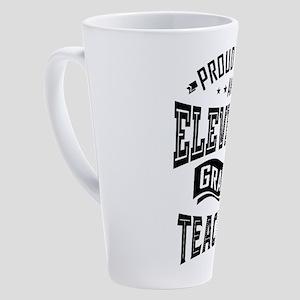 Eleventh Grade Teacher! 17 oz Latte Mug
