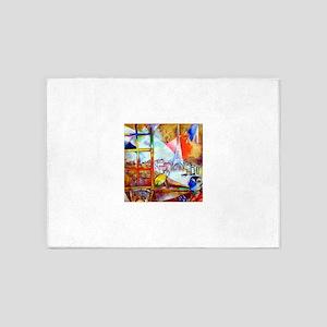 Marc Chagall Paris Through the Window 5'x7'Area Ru