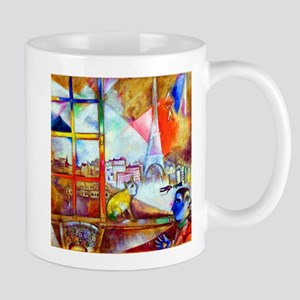 Marc Chagall Paris Through the Window Mugs