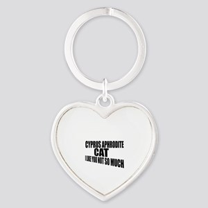 Cyprus Aphrodite Cat I Like You Not Heart Keychain