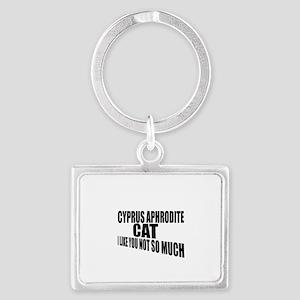 Cyprus Aphrodite Cat I Like You Landscape Keychain