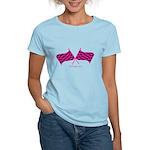 Boostgear Pink Racing Flags Women's Light T-Shirt