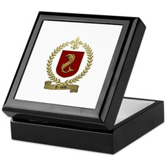 TRAHAN Family Crest Keepsake Box
