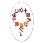 Fun World Unity Sticker (oval)