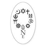 World Unity Sticker (oval)