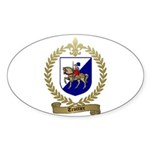TROTTIER Family Crest Oval Sticker