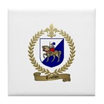 TROTTIER Family Crest Tile Coaster