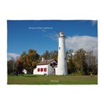 Sturgeon Point Lighthouse 5'x7'area Rug