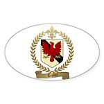 TRUDEL Family Crest Oval Sticker