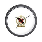 TRUDEL Family Crest Wall Clock