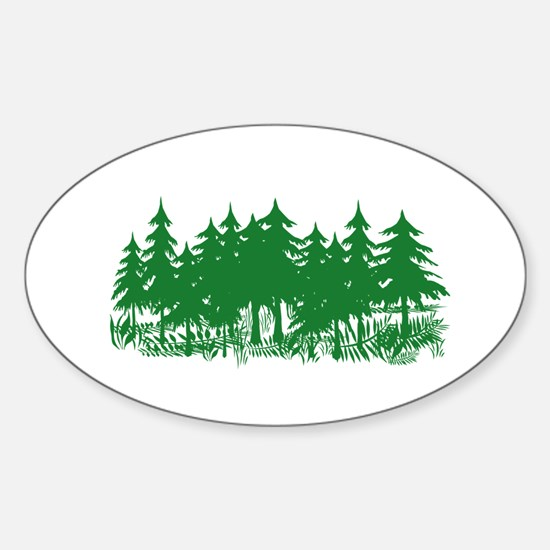 Trees Sticker (Oval)