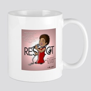 Aretha Franklin respect Mugs