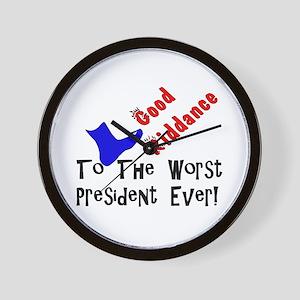 Good Riddance Worst President Wall Clock