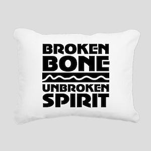 broken bone Rectangular Canvas Pillow