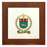 VACHON Family Crest Framed Tile