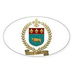VACHON Family Crest Oval Sticker