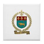 VACHON Family Crest Tile Coaster