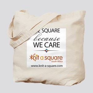 We Square Because We Care Tote Bag