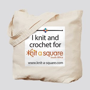 I Knit And Crochet For Knit-A-Square Tote Bag