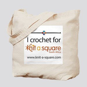 I Crochet For Knit-A-Square Tote Bag