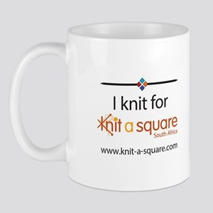 I Knit For Knit-A-Square Mugs
