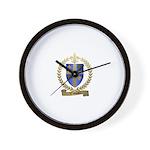 VALCOURT Family Crest Wall Clock