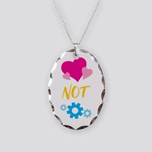 Hearts not Parts Necklace Oval Charm