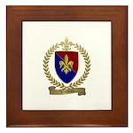 VEILLEUX Family Crest Framed Tile
