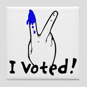 I Voted For Obama Tile Coaster
