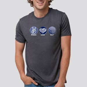 Peace Love Golf Mens Tri-blend T-Shirt