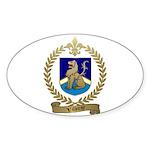 VILLERAY Family Crest Oval Sticker