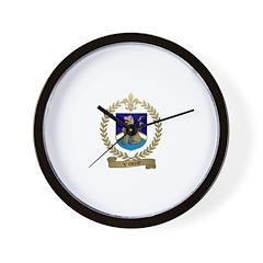 VILLERAY Family Crest Wall Clock