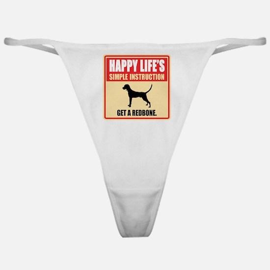 Redbone Coonhound Classic Thong